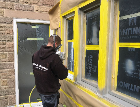 At Spraymaster South West we do not need to remove any windows in order to spray them a new paint colour. This saves on cost, time and mess.